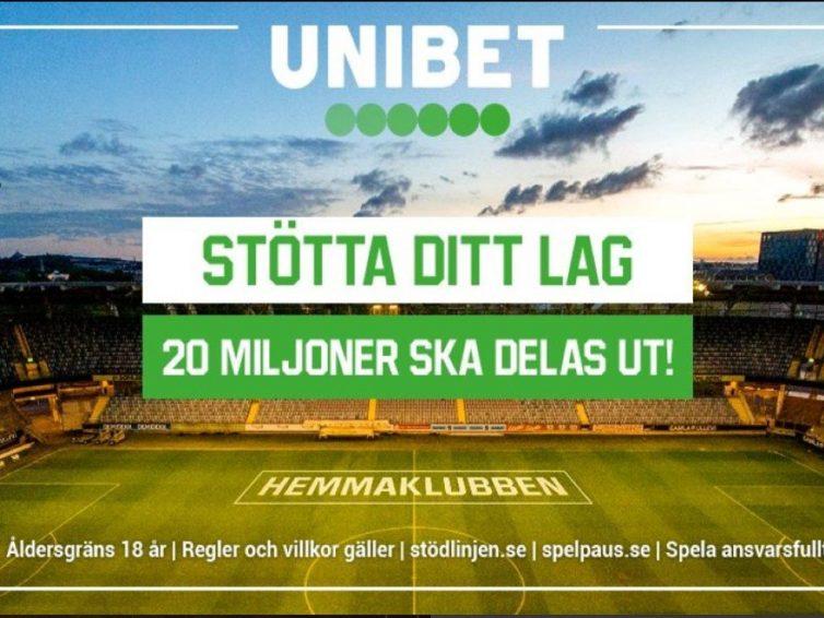 Välj hemmaklubb hos Unibet – Stöd ditt lag i Allsvenskan & Superettan
